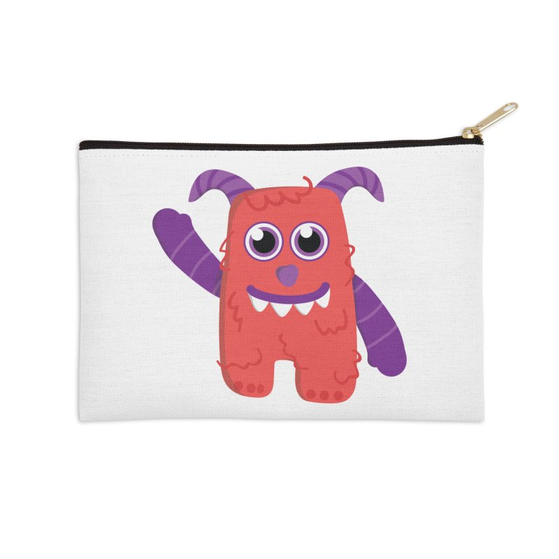 Misty (red) Accessories Zip Pouch by Val's Artist Shop