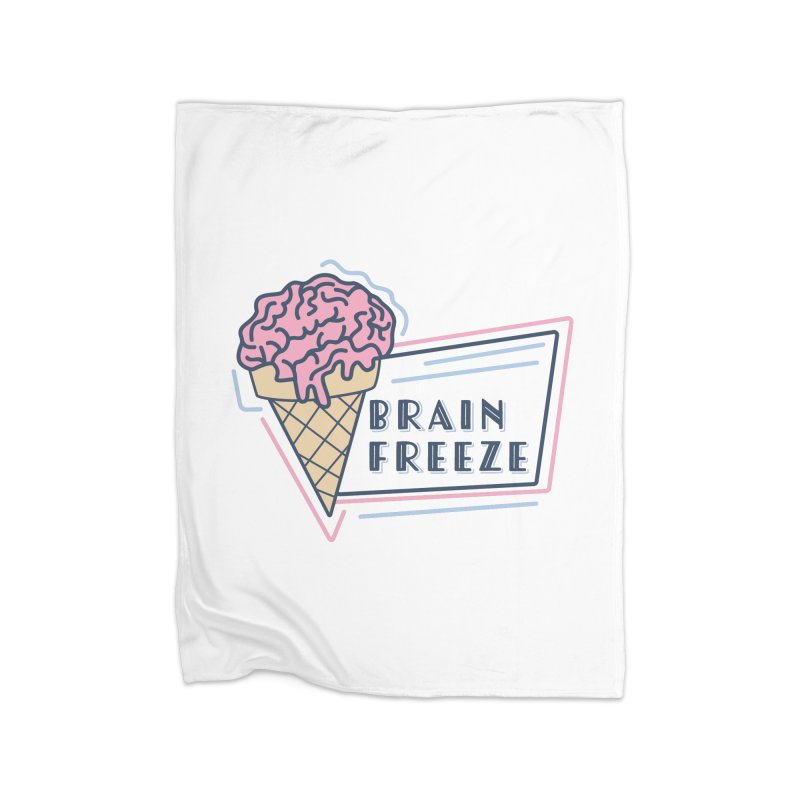 Brain Freeze (logo - style 1) Home Blanket by Val's Artist Shop