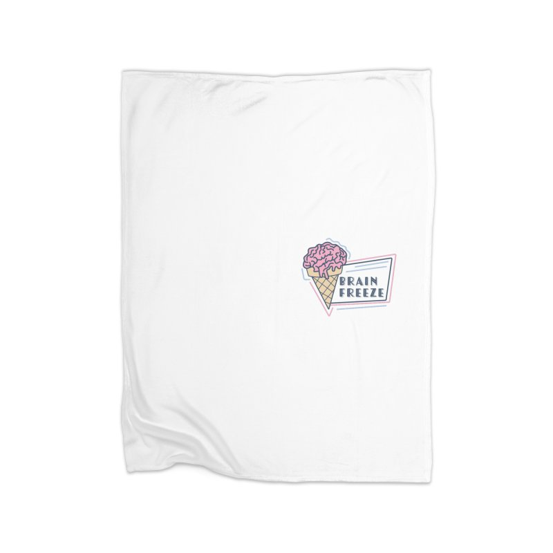 Brain Freeze (logo - style 2) Home Blanket by Val's Artist Shop
