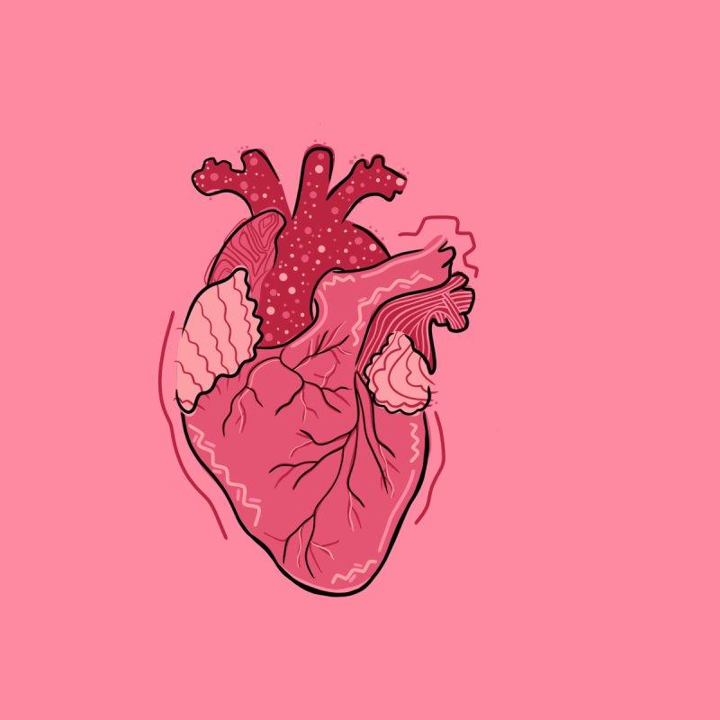 Heart Women's Scoop Neck by Val's Artist Shop