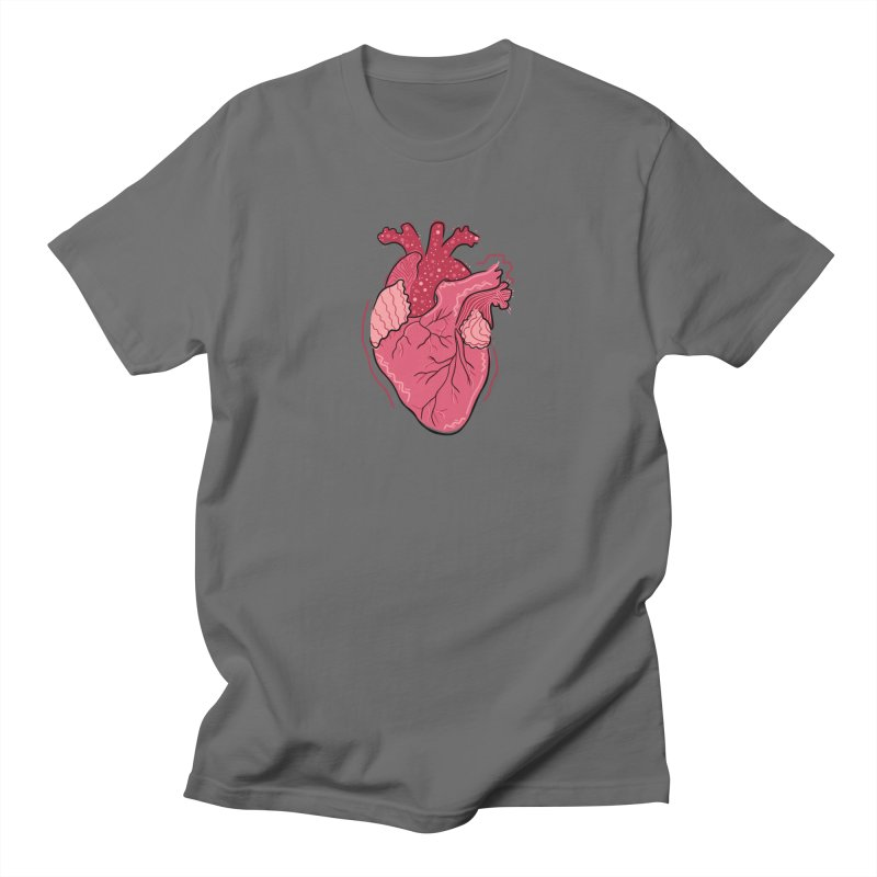 Heart Men's T-Shirt by Val's Artist Shop
