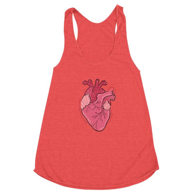 Heart Women's Tank by Val's Artist Shop