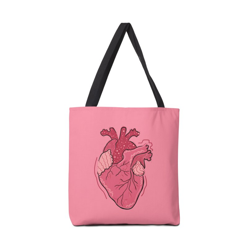 Heart Accessories Bag by Val's Artist Shop