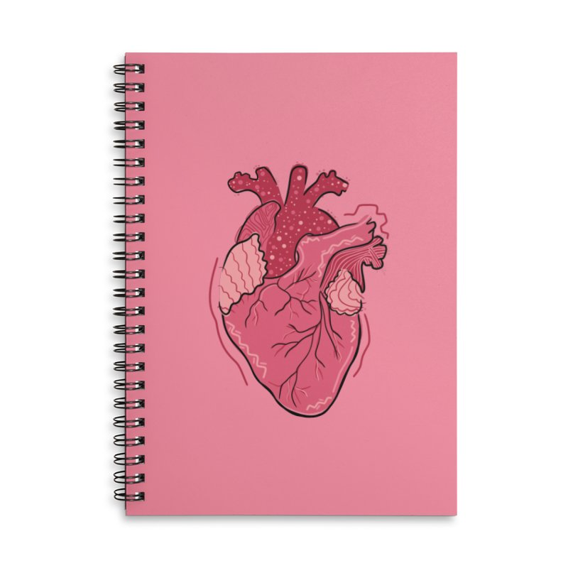 Heart Accessories Notebook by Val's Artist Shop