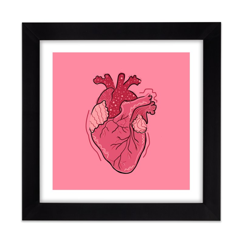 Heart Home Framed Fine Art Print by Val's Artist Shop
