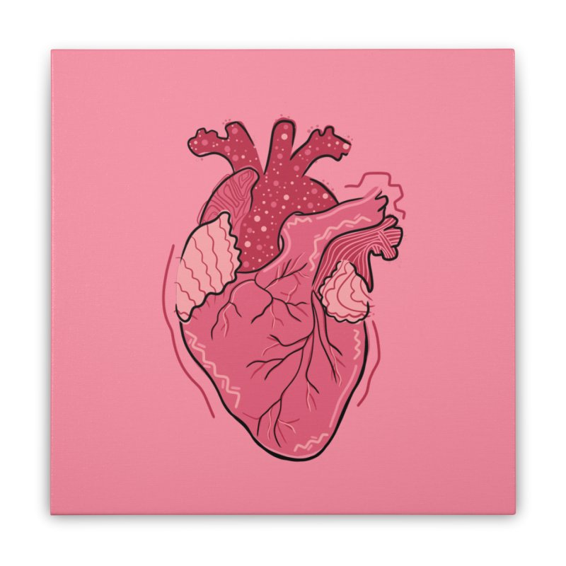 Heart Home Stretched Canvas by Val's Artist Shop