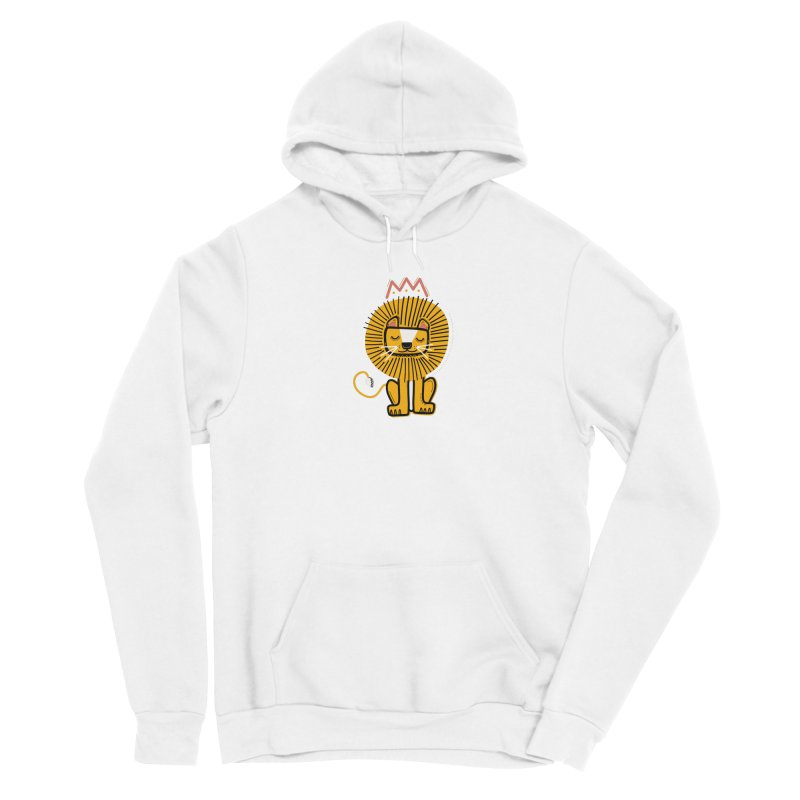 Lion Women's Pullover Hoody by Val's Artist Shop