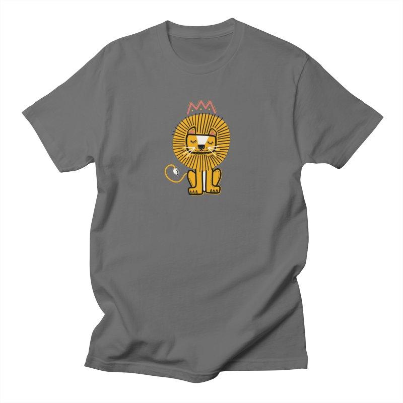 Lion Men's T-Shirt by Val's Artist Shop