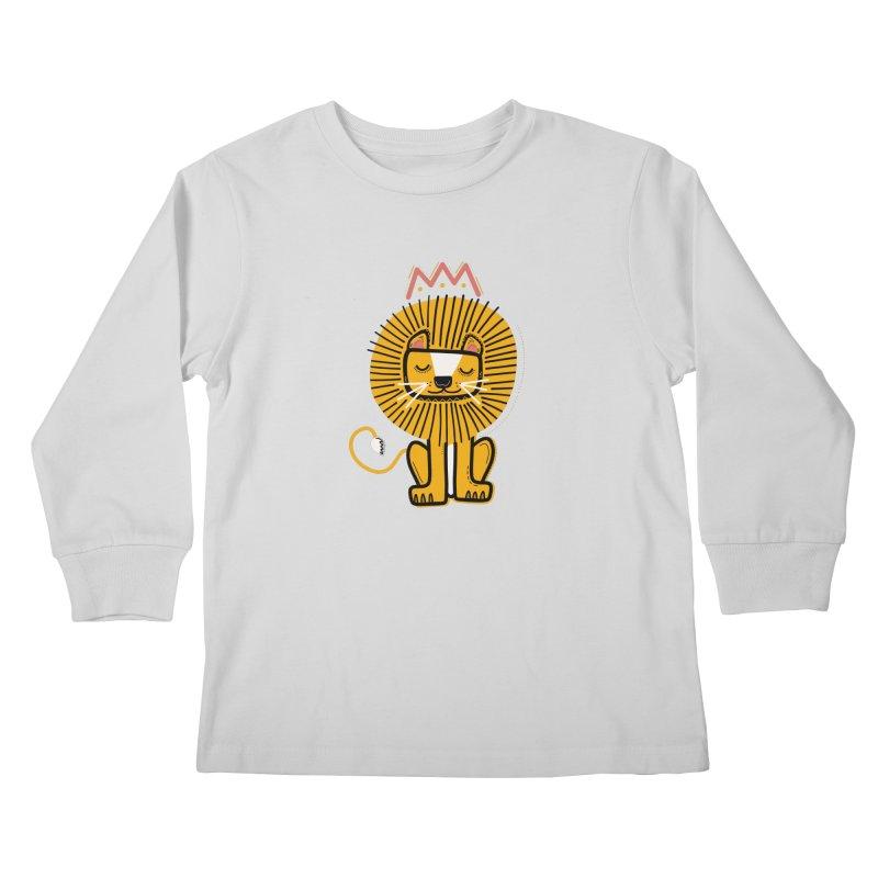 Lion Kids Longsleeve T-Shirt by Val's Artist Shop
