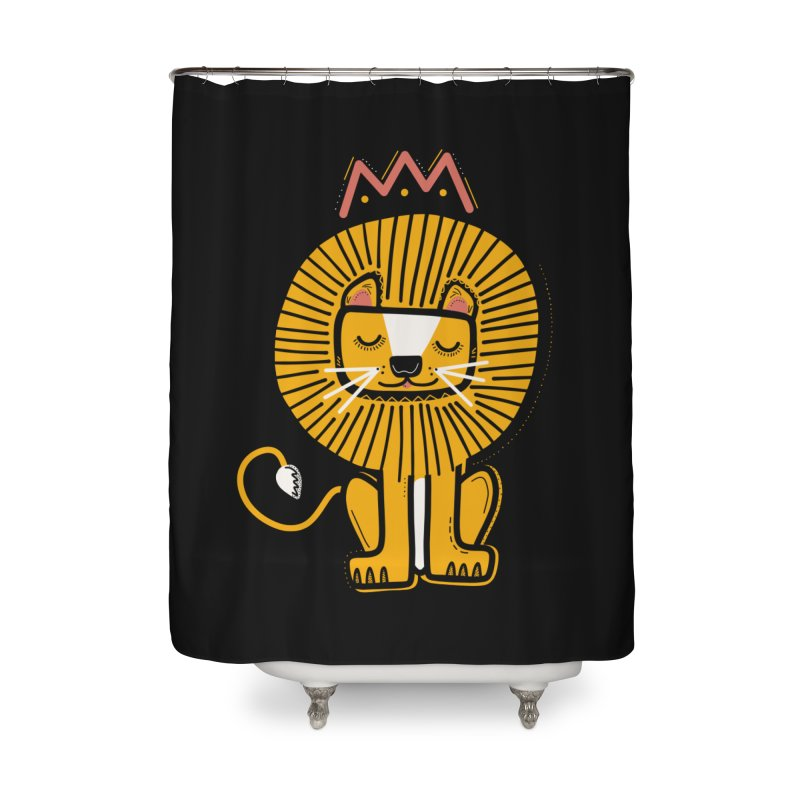 Lion Home Shower Curtain by Val's Artist Shop