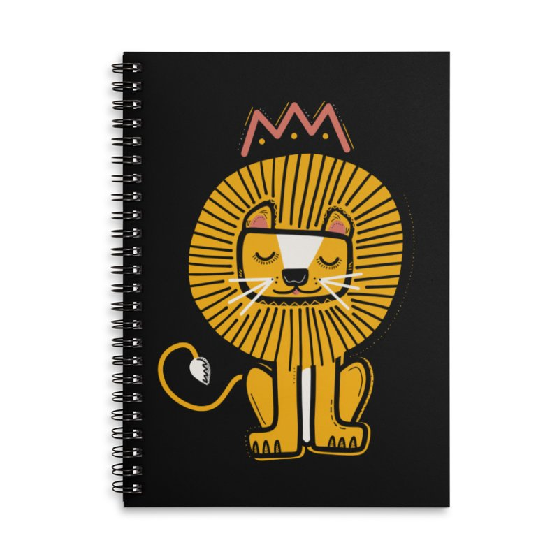 Lion Accessories Notebook by Val's Artist Shop