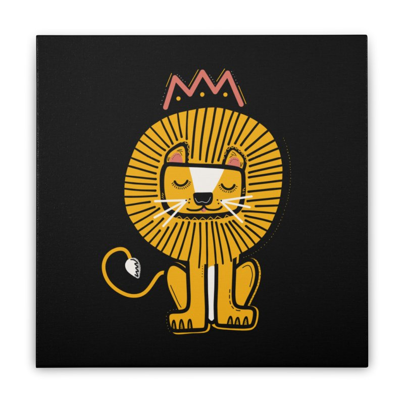 Lion Home Stretched Canvas by Val's Artist Shop