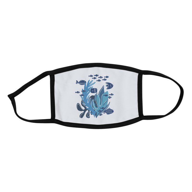 Fish Accessories Face Mask by Val's Artist Shop