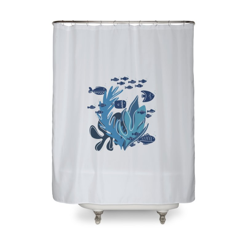 Fish Home Shower Curtain by Val's Artist Shop