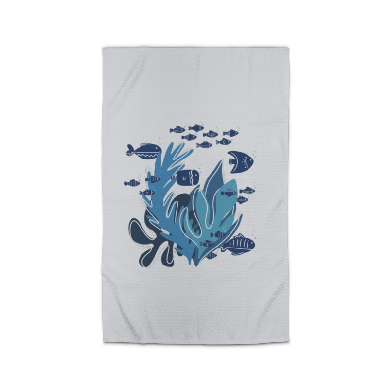 Fish Home Rug by Val's Artist Shop