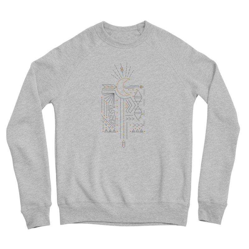 Moon & Arrow - Silver and Gold Women's Sweatshirt by Val's Artist Shop