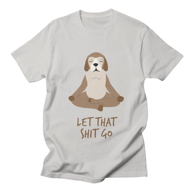 Meditation Dog 1 Men's T-Shirt by Val's Artist Shop