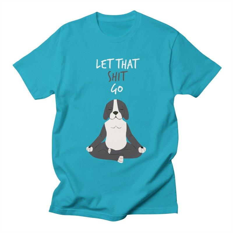 Meditation Dog 2 Men's T-Shirt by Val's Artist Shop