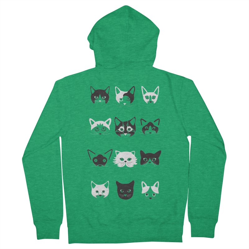Cats (Best Friends Animal Society) Women's Zip-Up Hoody by Val's Artist Shop