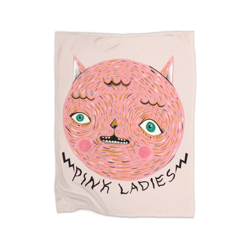 Pink ladies Home Fleece Blanket Blanket by Valentina Zummo