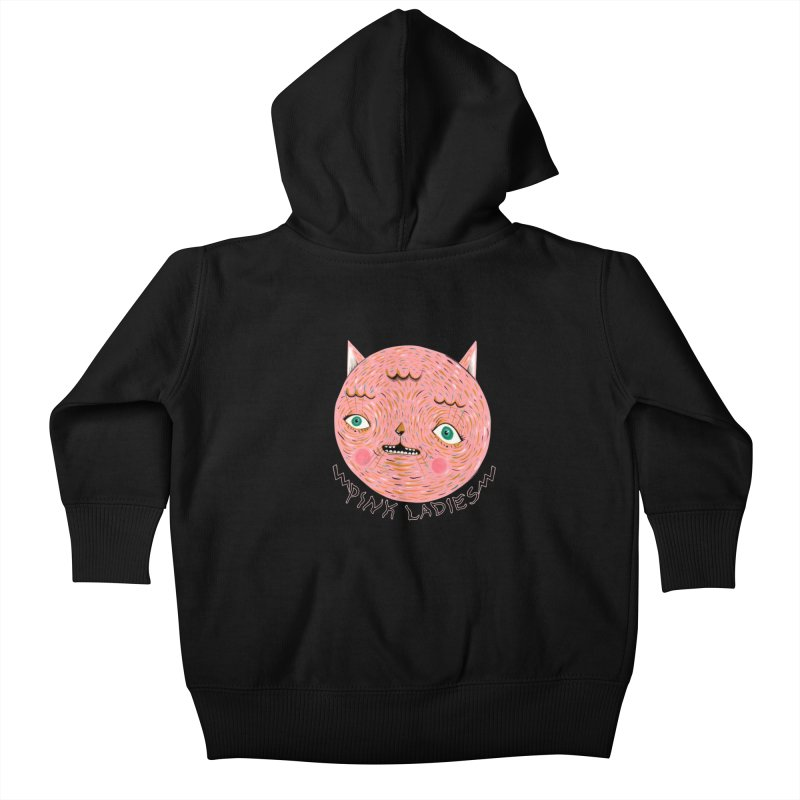 Pink ladies Kids Baby Zip-Up Hoody by Valentina Zummo