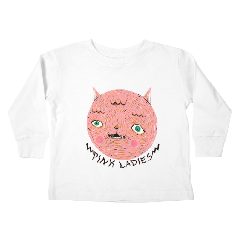 Pink ladies Kids Toddler Longsleeve T-Shirt by Valentina Zummo