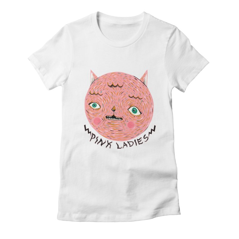 Pink ladies Women's Fitted T-Shirt by Valentina Zummo