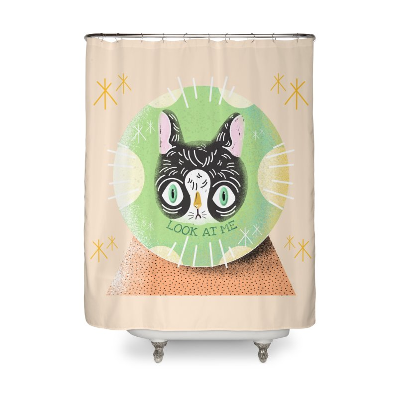 Look at me Home Shower Curtain by Valentina Zummo