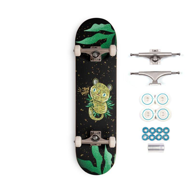 Stay wild Accessories Skateboard by Valentina Zummo