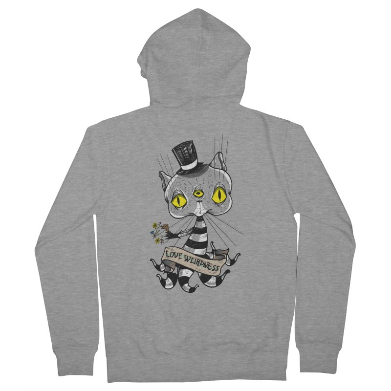 Love Weirdness Men's French Terry Zip-Up Hoody by Valentina Zummo