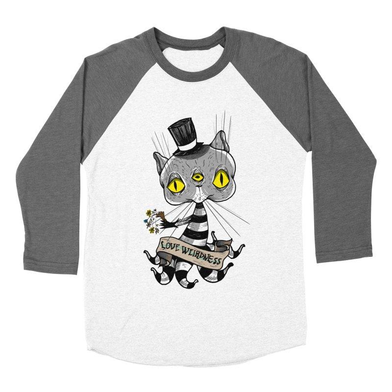 Love Weirdness Men's Baseball Triblend Longsleeve T-Shirt by Valentina Zummo