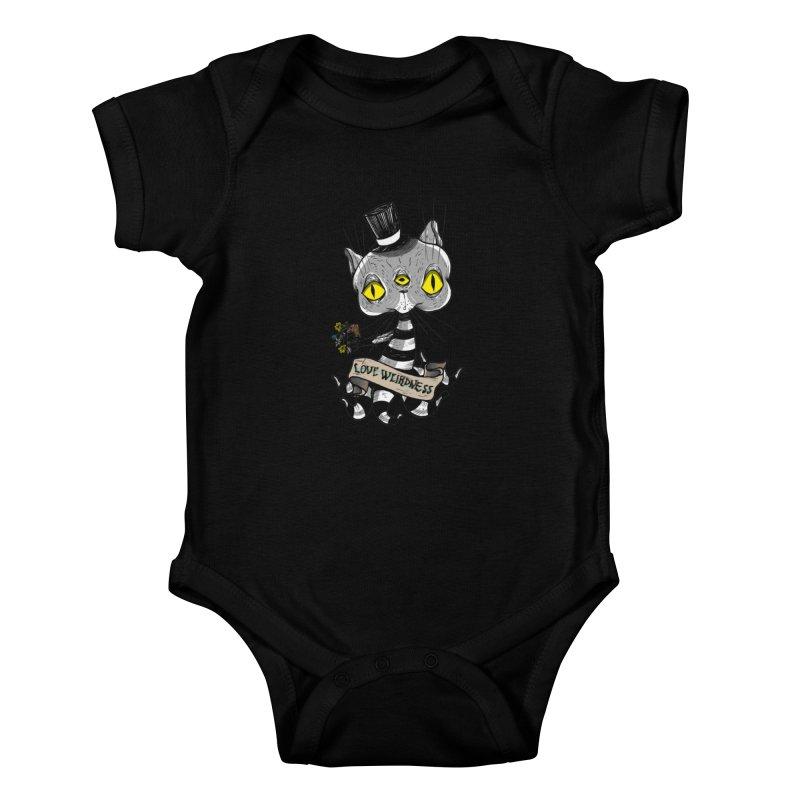 Love Weirdness Kids Baby Bodysuit by Valentina Zummo