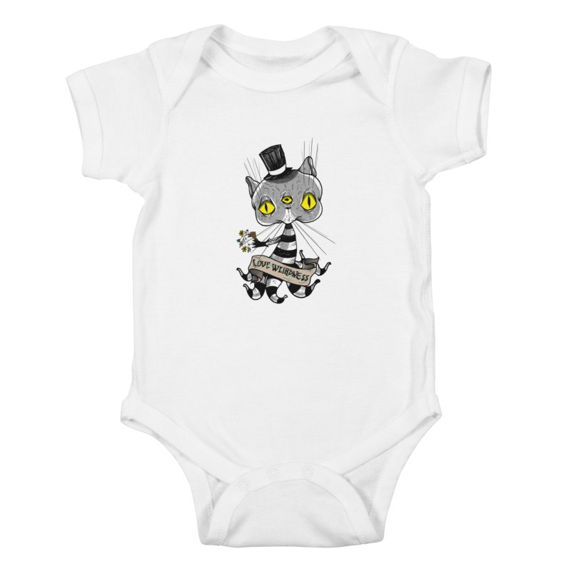Love Weirdness Kids Baby Bodysuit by Valentina Zummo