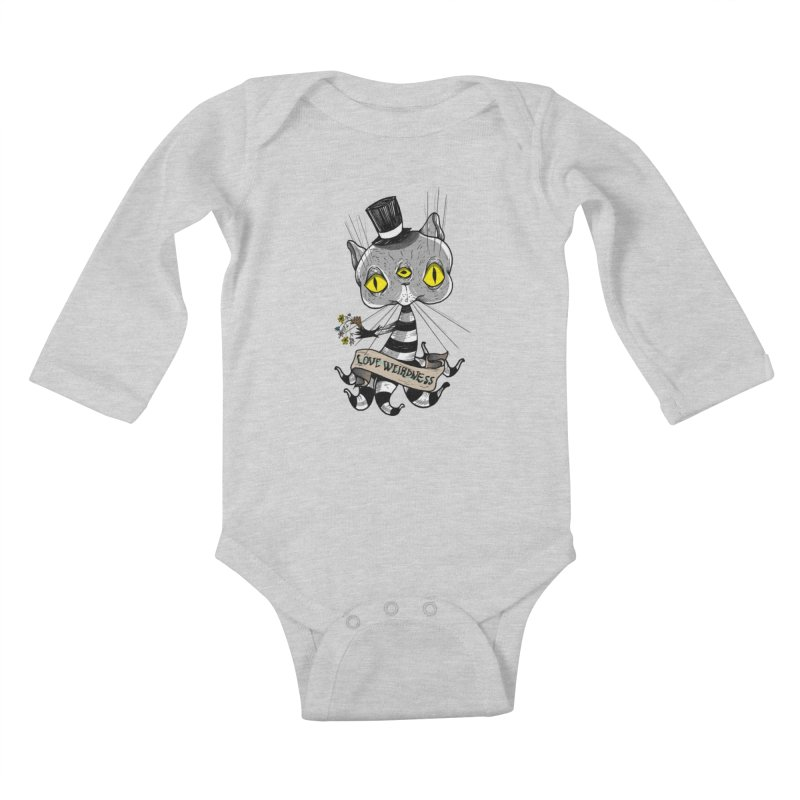 Love Weirdness Kids Baby Longsleeve Bodysuit by Valentina Zummo