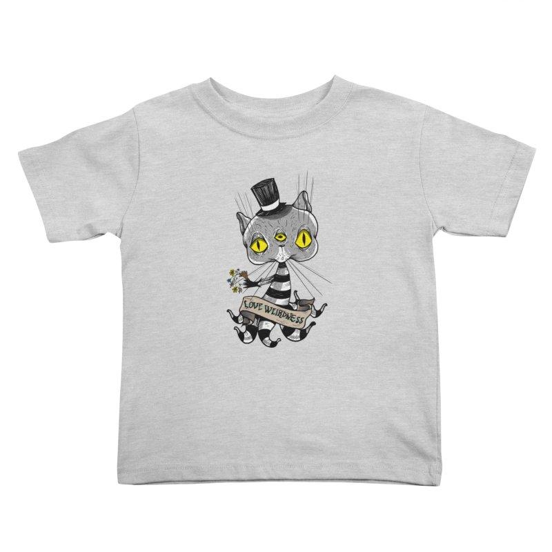 Love Weirdness Kids Toddler T-Shirt by Valentina Zummo