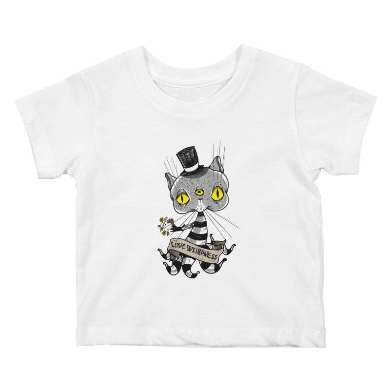 Love Weirdness Kids Baby T-Shirt by Valentina Zummo