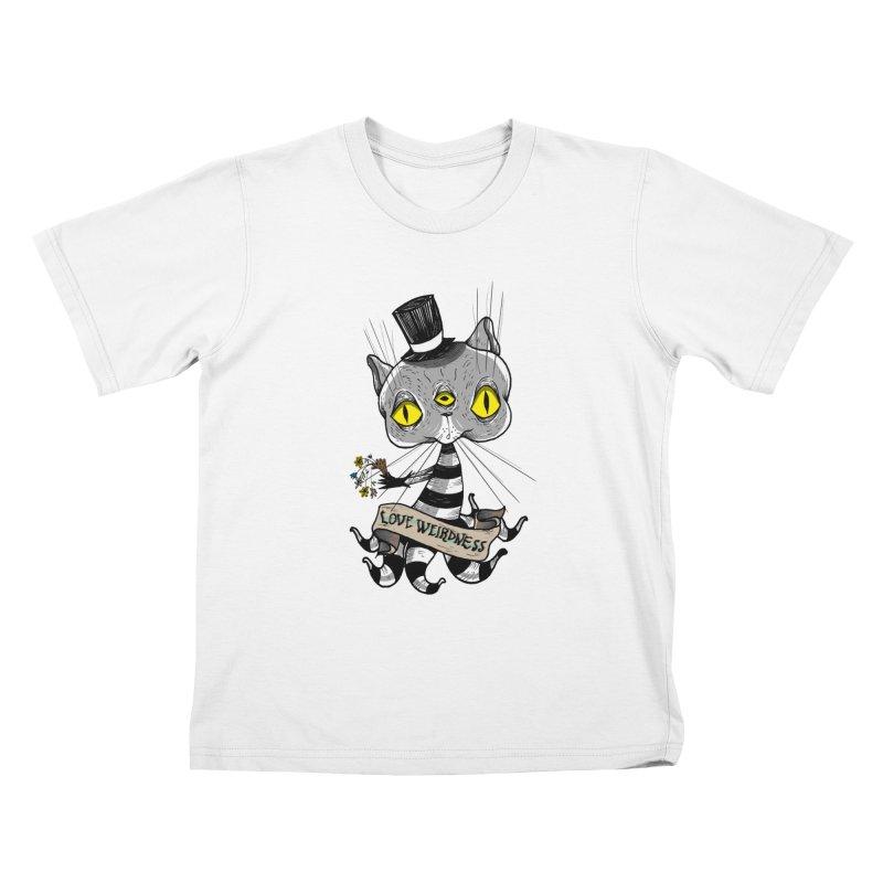 Love Weirdness Kids T-Shirt by Valentina Zummo