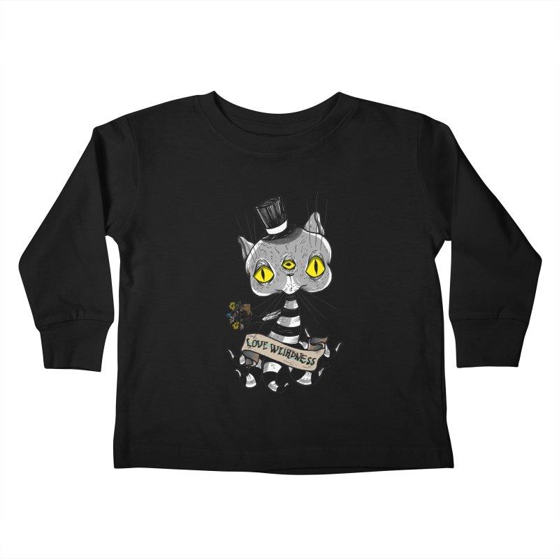 Love Weirdness Kids Toddler Longsleeve T-Shirt by Valentina Zummo