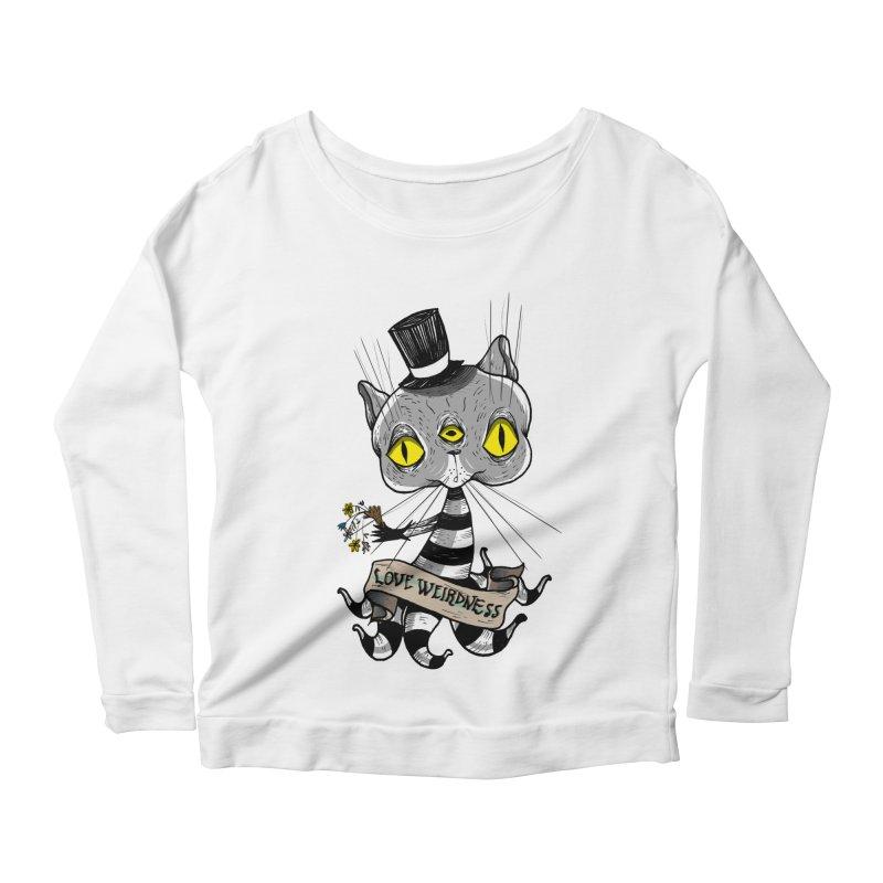 Love Weirdness Women's Scoop Neck Longsleeve T-Shirt by Valentina Zummo