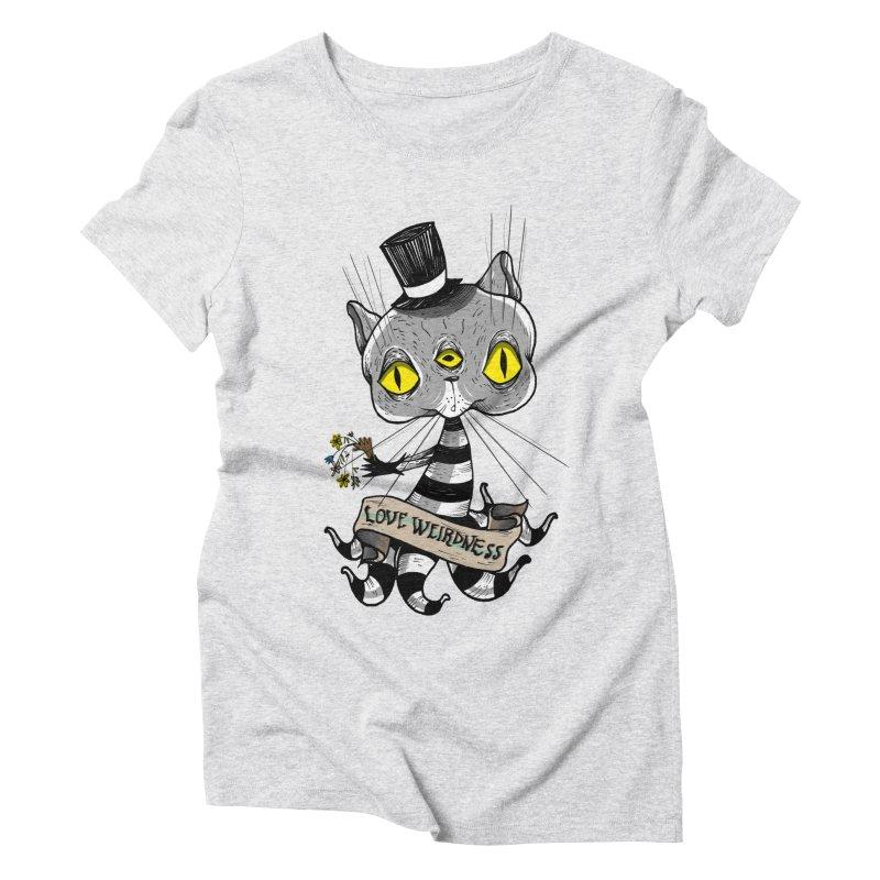 Love Weirdness Women's Triblend T-Shirt by Valentina Zummo