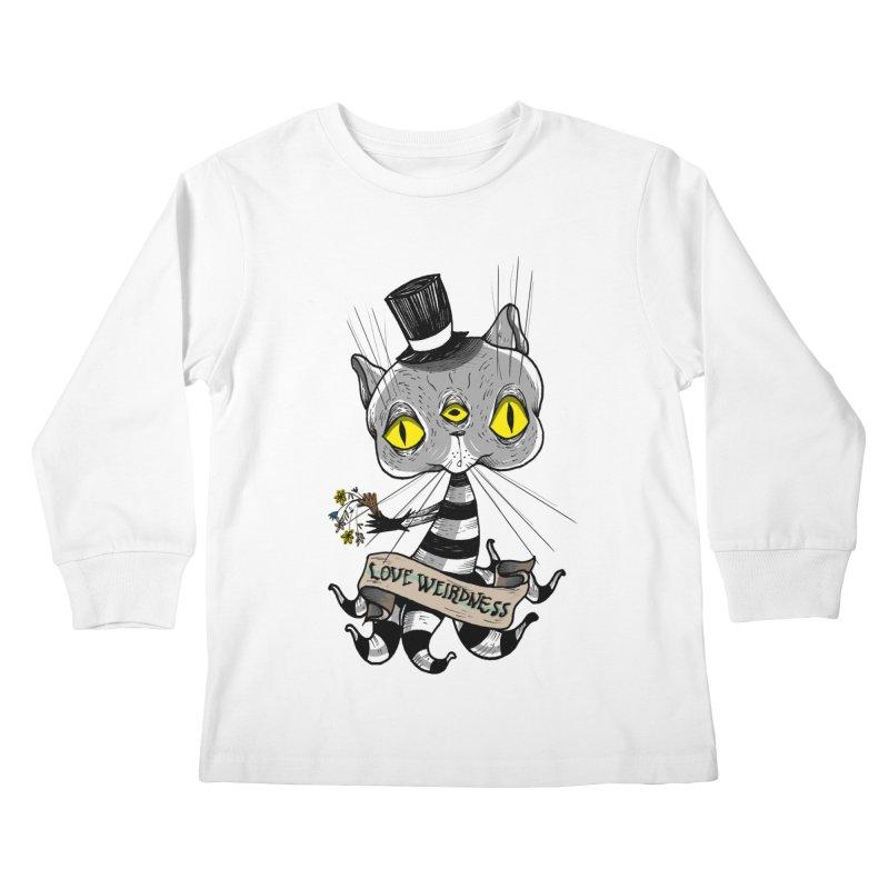 Love Weirdness Kids Longsleeve T-Shirt by Valentina Zummo