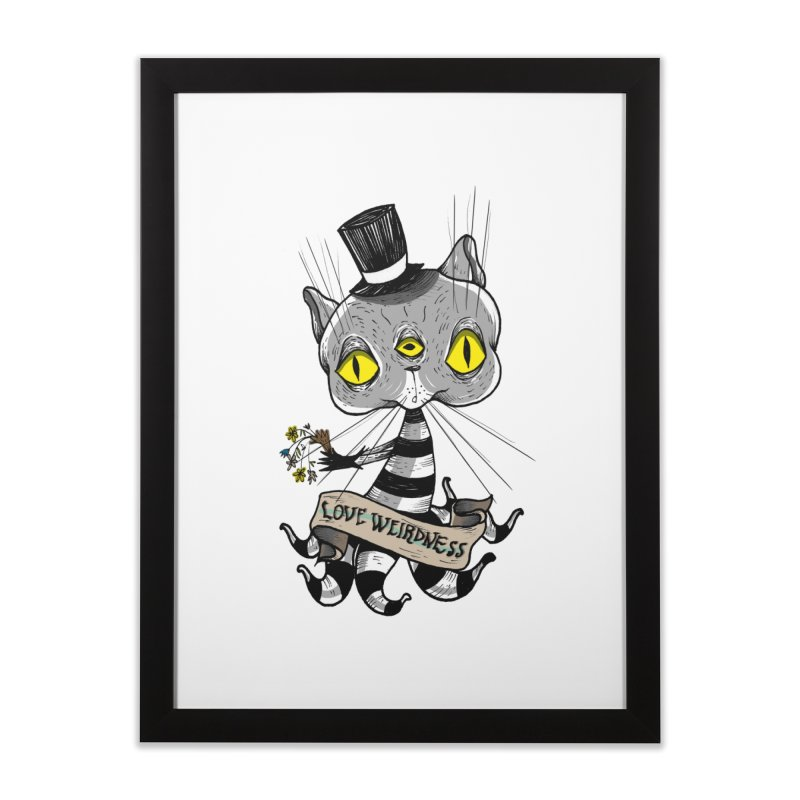 Love Weirdness Home Framed Fine Art Print by Valentina Zummo