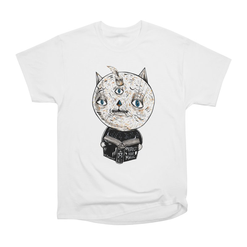 Magician cat Men's Heavyweight T-Shirt by Valentina Zummo