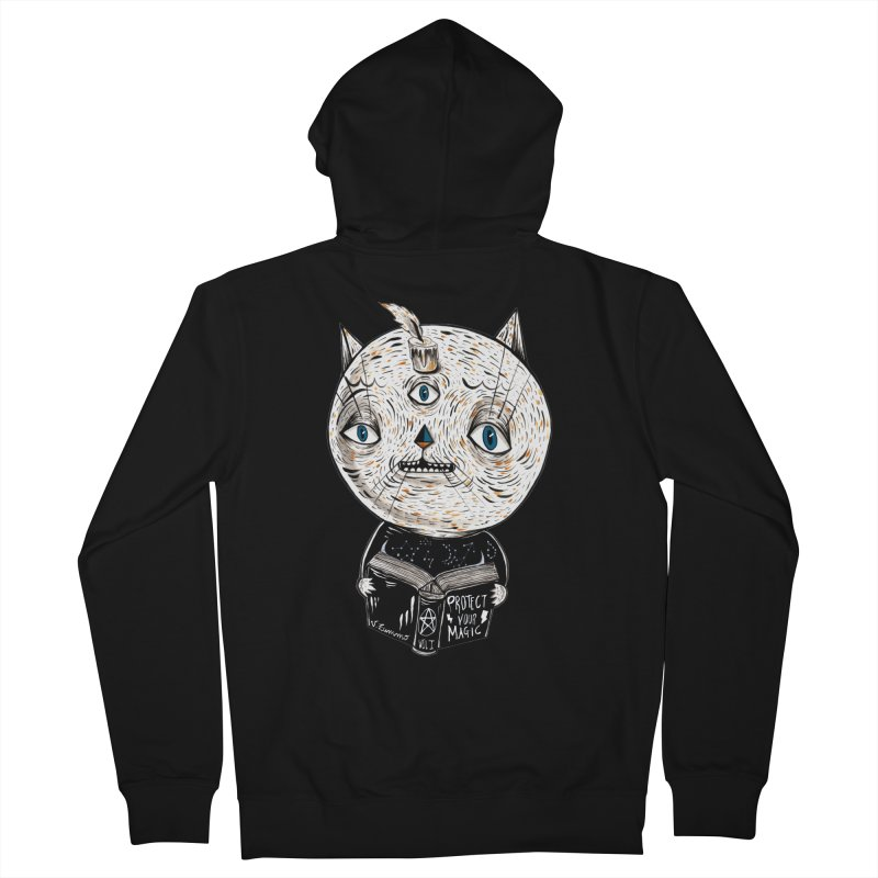 Magician cat Men's French Terry Zip-Up Hoody by Valentina Zummo