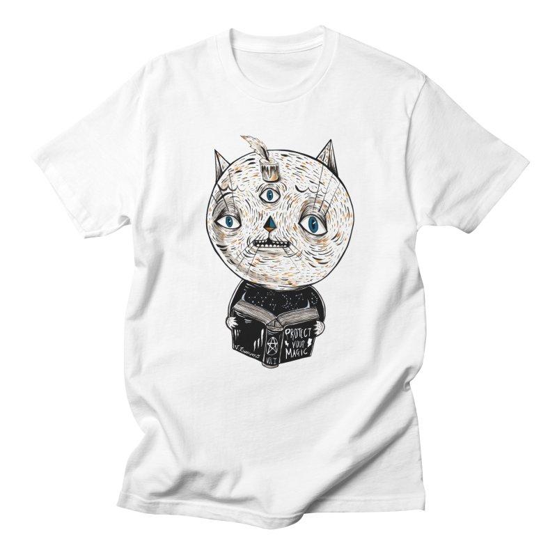 Magician cat Men's T-Shirt by Valentina Zummo