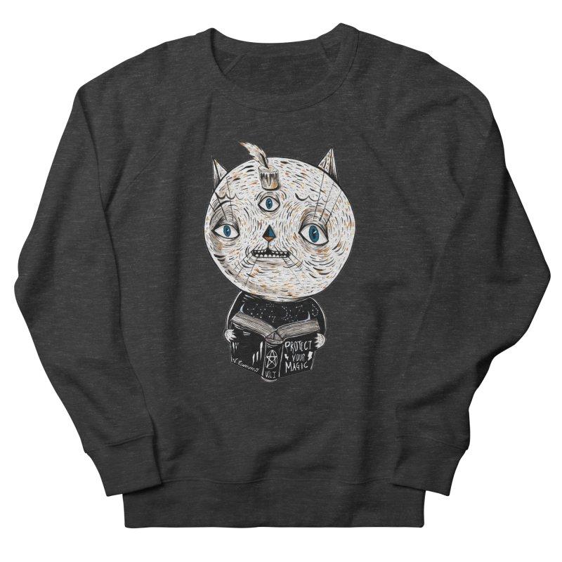 Magician cat Women's French Terry Sweatshirt by Valentina Zummo