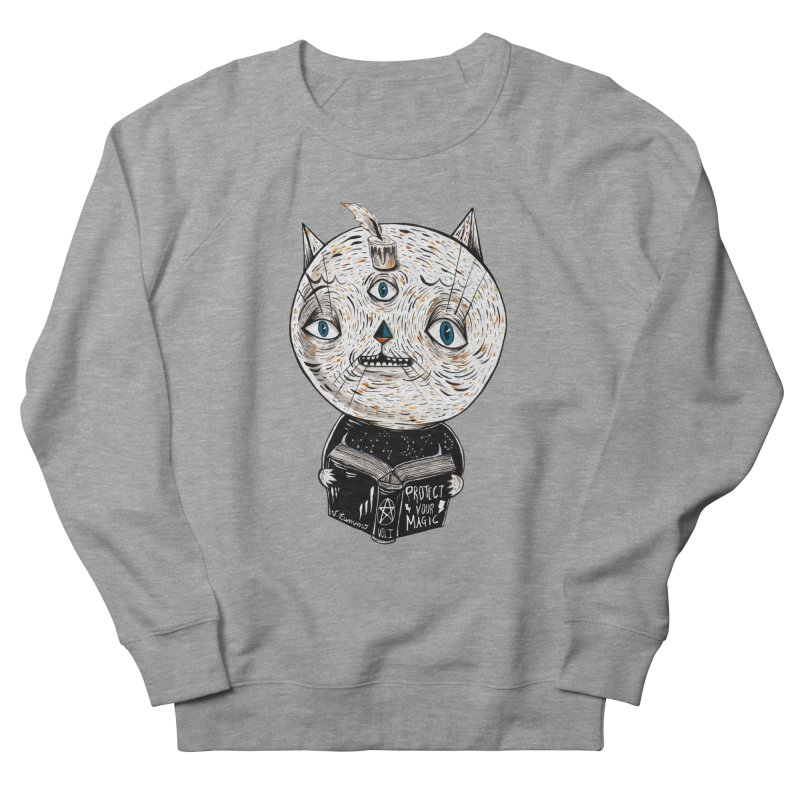 Magician cat Women's French Terry Sweatshirt by Valentina Zummo