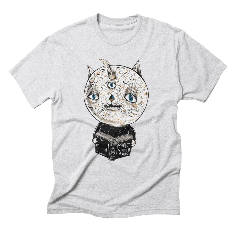 Magician cat Men's Triblend T-Shirt by Valentina Zummo