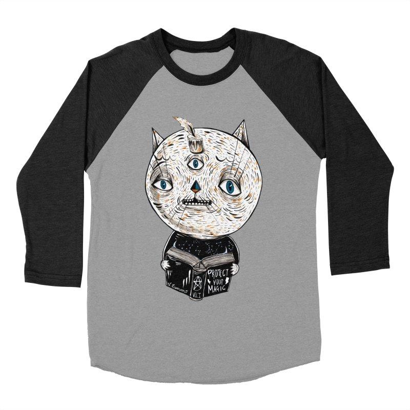 Magician cat Women's Baseball Triblend Longsleeve T-Shirt by Valentina Zummo