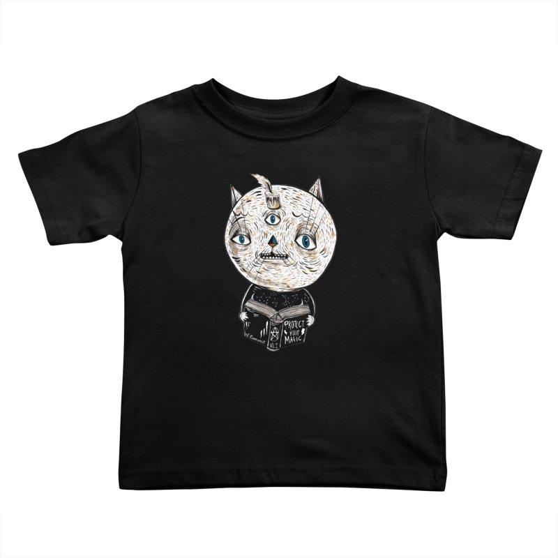 Magician cat Kids Toddler T-Shirt by Valentina Zummo